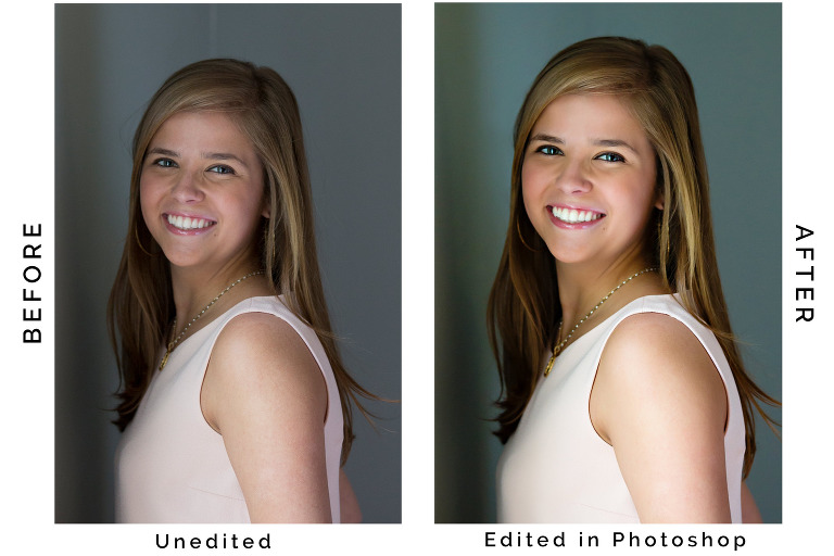 Before and after comparison of an edited picture.